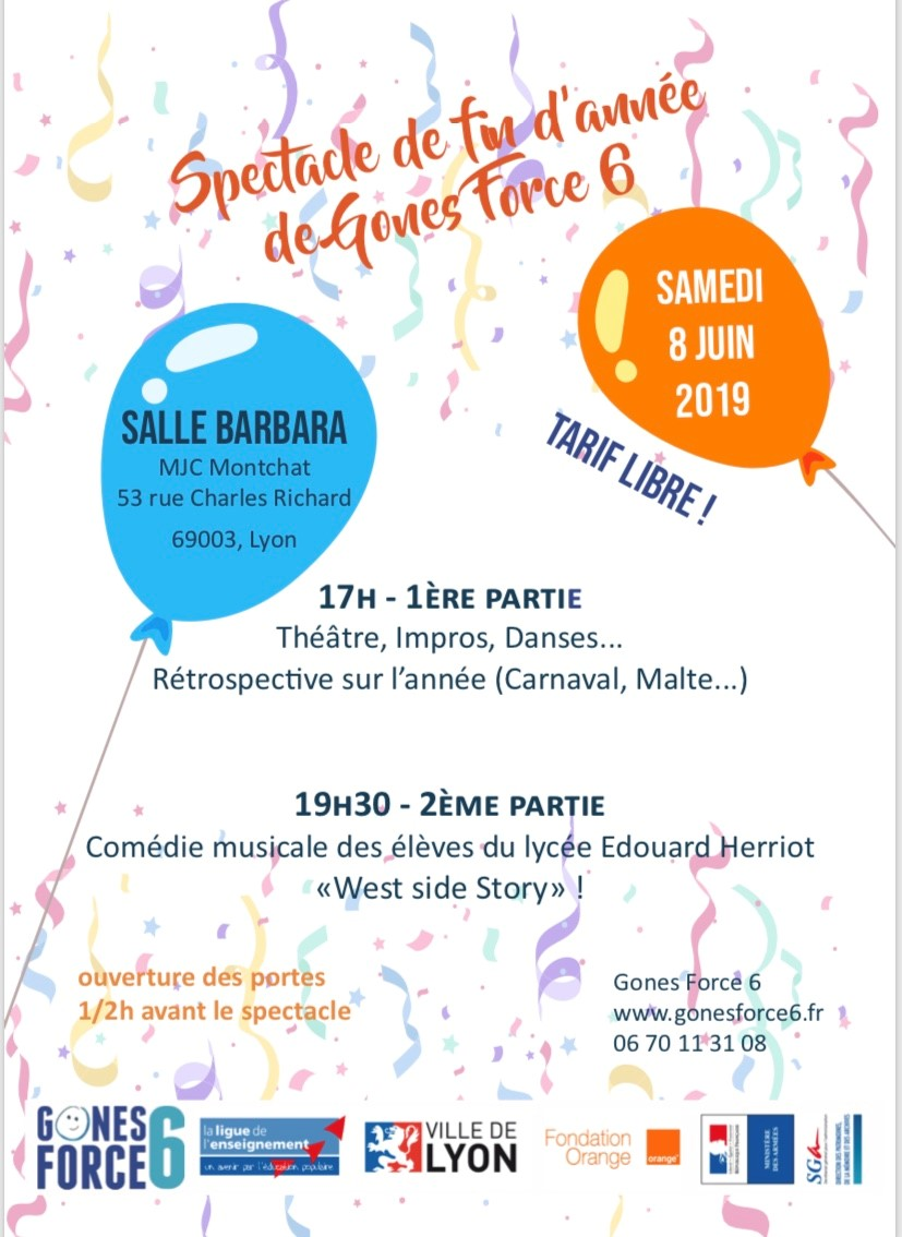 SPECTACLE JUIN 2019
